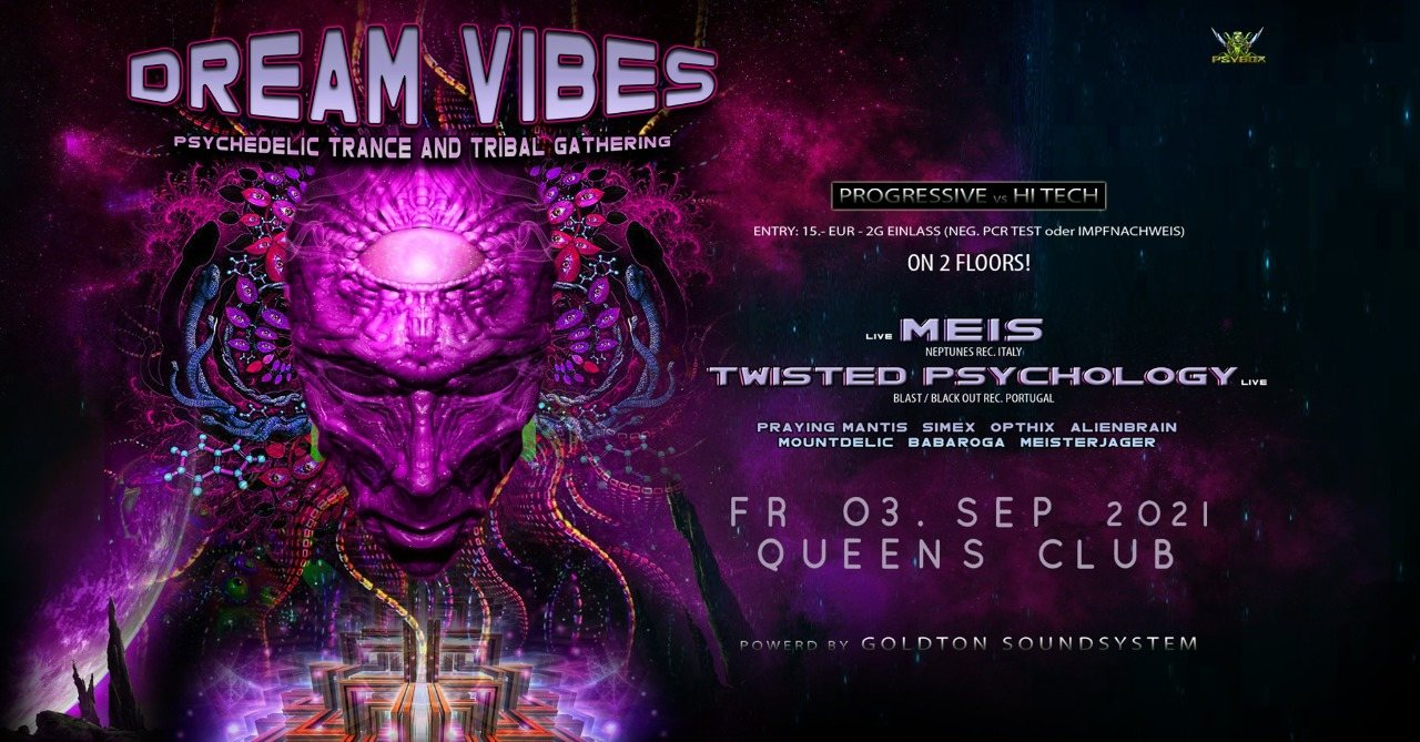 Party Flyer Psybox - Dreamvibes with Meis & Twisted Psychology *live 3 Sep '21, 21:00