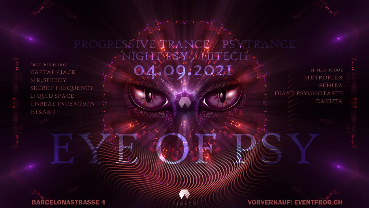 Party Flyer Eye of Psy Jubiläum 4 Sep '21, 23:00