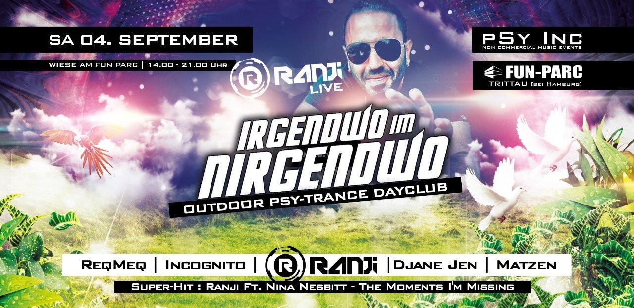 Party Flyer IRGENDWO IM NIRGENDWO | Ranji Live Open Air 4 Sep '21, 14:00
