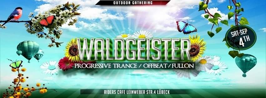 Party Flyer ♤WALDGEISTER♤ Outdoor Gathering 4 Sep '21, 14:30
