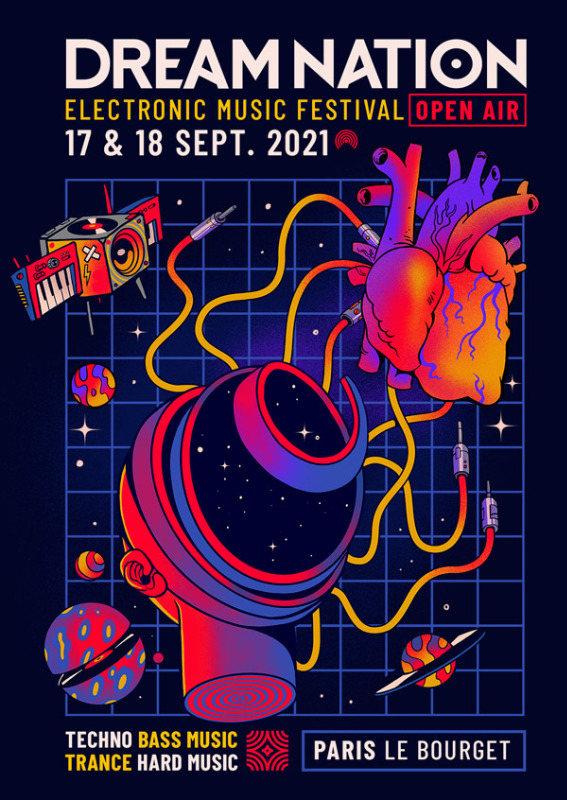 Party Flyer 17 & 18 September 2021 – DREAM NATION FESTIVAL – OPEN AIR 17 Sep '21, 20:00