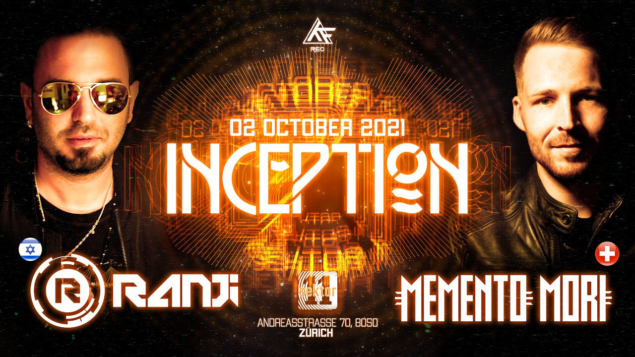 Party Flyer Inception with Ranji amm. 2 Oct '21, 22:00
