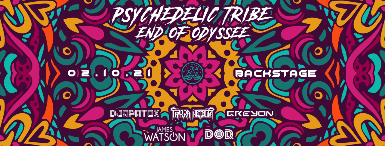 """Psychedelic Tribe """"End of Odyssee"""" 2 Oct '21, 22:00"""