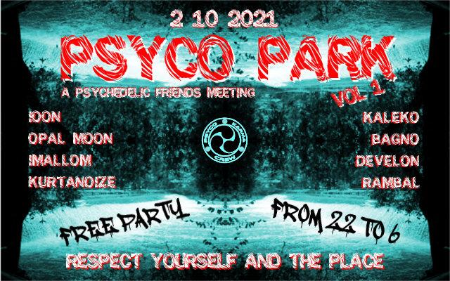 Party Flyer PSYCO PARK vol.1 2 Oct '21, 22:00