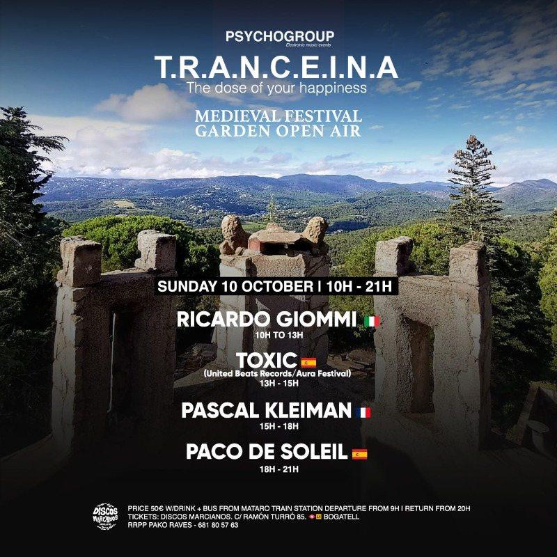 T.R.A.N.C.E.I.N.A (MEDIEVAL FESTIVAL) Garden Open Air 10 Oct '21, 10:00
