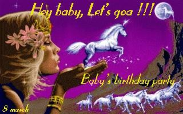Party Flyer Hey baby, Lets ... GoA!!!! Baby's birthday party 8 Mar '02, 10:30