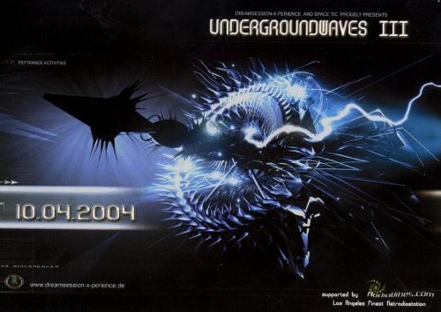 Party Flyer Undergroundwaves /// 10 Apr '04, 20:00