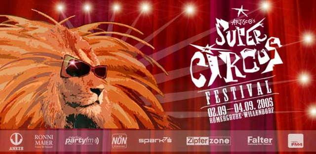 Party Flyer ARTISCO'S SUPERCIRCUS 2 Sep '05, 18:00