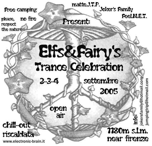 Party Flyer Elves & Fairy's Trance Celebration 2 Sep '05, 17:00