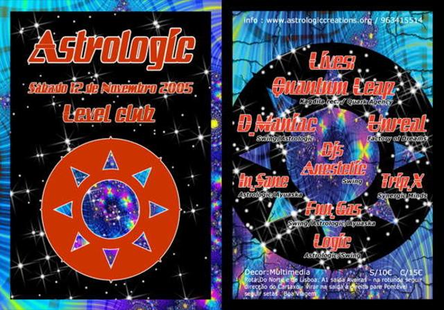 Party Flyer Astrologic party 12 Nov '05, 23:00
