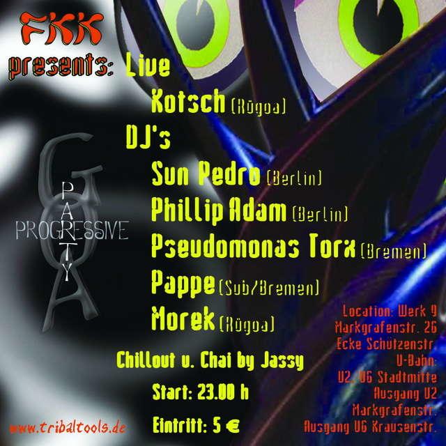 Party Flyer F K K --> Frei - Klar - Kom 12 Nov '05, 23:00