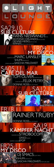 Party Flyer SUB CULTURE NIGHT @ LIGHT LOUNGE // PART TWO 12 Nov '05, 22:00