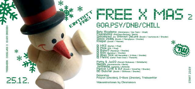Party Flyer FREE X MAS - free Xmas-Gathering for Freaks 2005 25 Dec '05, 23:30