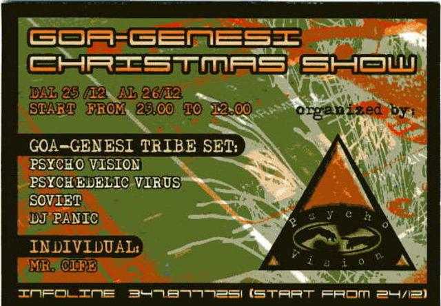 Party Flyer >-< GOA -GENESI CHRISTMAS SHOW >- 25 Dec '05, 23:00