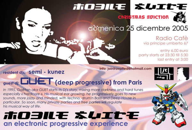 Party Flyer °°°MOBILE SUITE°°° christmas ediction 25 Dec '05, 23:30