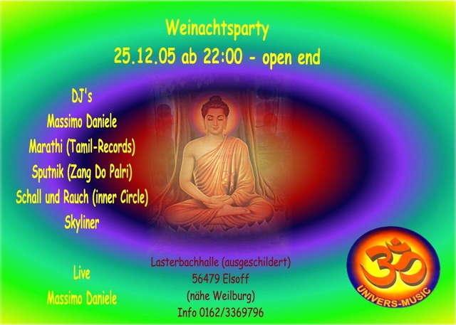 Party Flyer univers-music 25 Dec '05, 22:00