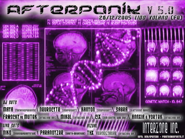 Party Flyer AFTERpAniK v 5.o... 26 Dec '05, 14:00
