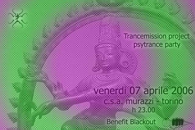 Party Flyer Trancemission Project Benefit Party 7 Apr '06, 23:00
