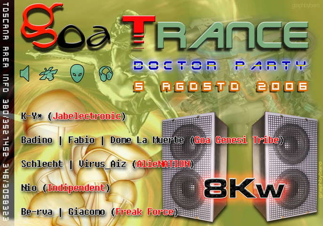 Party Flyer GOA TRANCE DOCTOR PARTY 5 Aug '06, 23:00