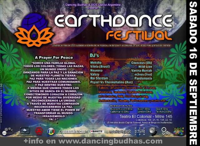 Party Flyer Earthdance Argentina 2006 16 Sep '06, 18:00