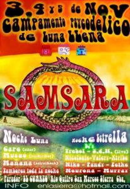Party Flyer Samsara Psychedelic Full Moon Camp Cordoba 3 Nov '06, 16:00
