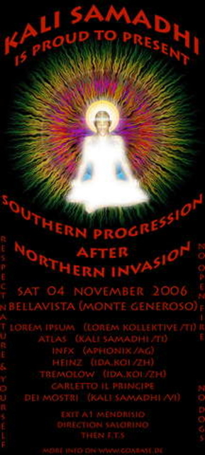 Party Flyer KALI SAMADHI'S SOUTHERN PREGRESSION after NORTHERN INVASION 4 Nov '06, 22:00
