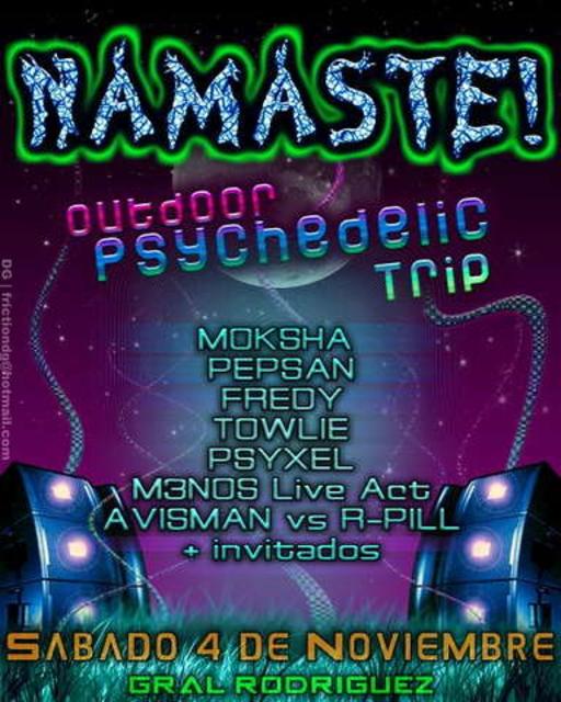Party Flyer Namaste! Outdoor Psychedelic Trip 4 Nov '06, 18:00