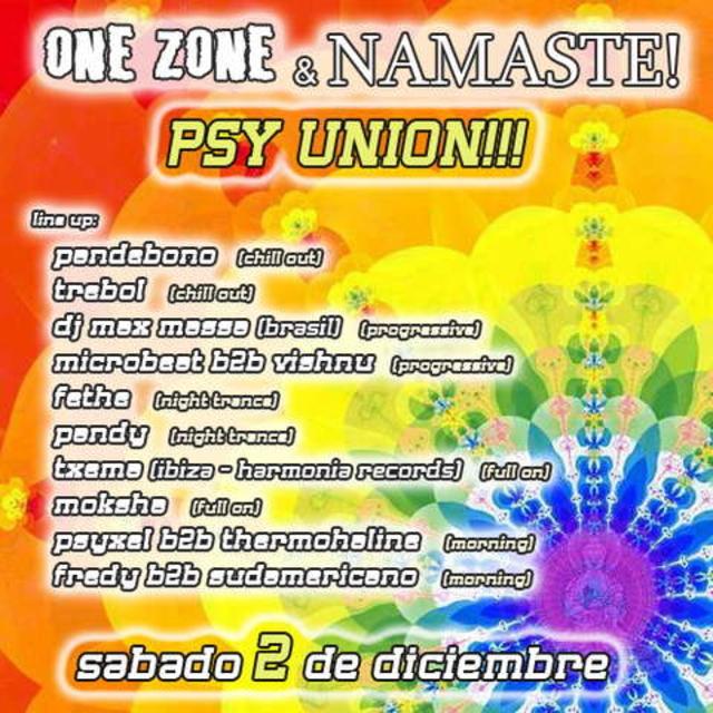 Party Flyer Namaste! & One Zone present PsyUnion Outdoor 2 Dec '06, 23:00