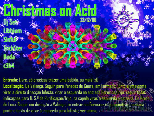 Party Flyer Chistmas on acid XD 23 Dec '06, 22:00