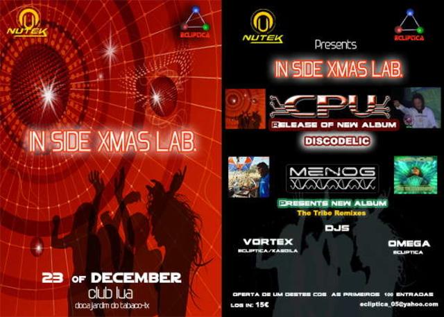 Party Flyer IN SIDE XMAS LAB. 23 Dec '06, 23:30