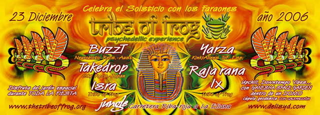 Party Flyer TRiBE oF FRoG - Temple of Sun - winter solstice in Jungle!!! 23 Dec '06, 23:30