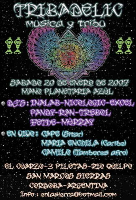Party Flyer Tribadelic 19 Jan '07, 19:00