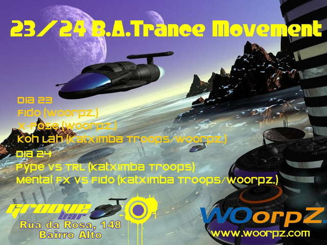 Party Flyer B.A. Trance Movement @ Groove Bar 24 Feb '07, 23:30