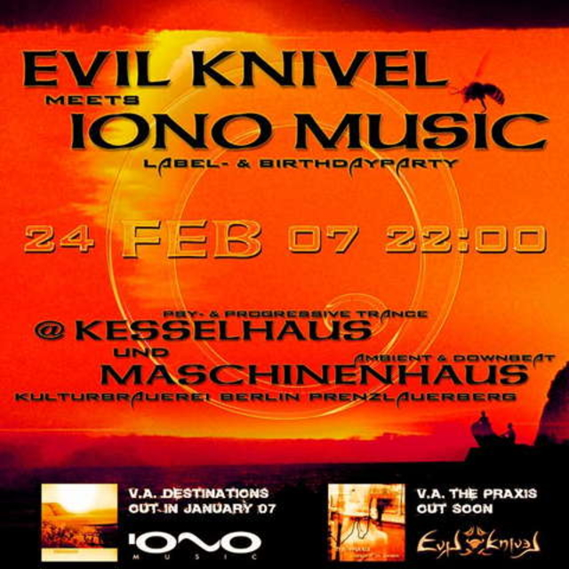 Party Flyer EVIL-KNIVEL meets IONO-MUSIC 24 Feb '07, 23:00