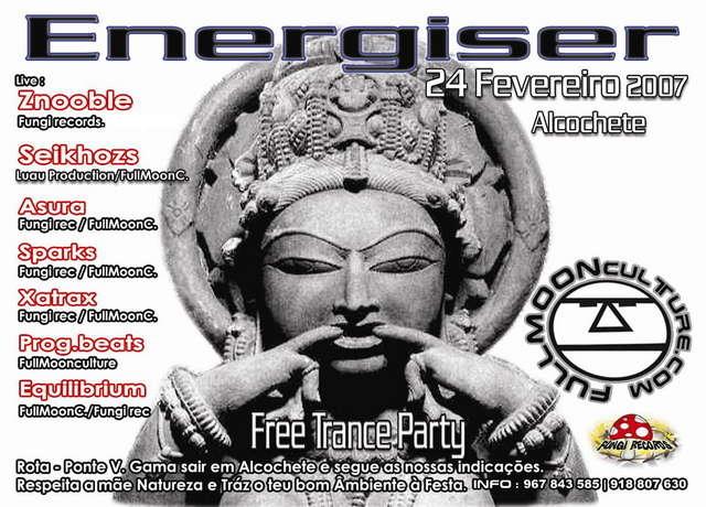 Party Flyer FREE PARTY ENERGISER - VILA NOVA DA RAINHA 24 Feb '07, 23:00