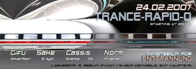 Party Flyer Trance-Rapid-o 24 Feb '07, 23:00