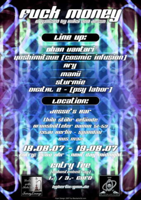 Party Flyer BARIS (Fuck money??) 18 Aug '07, 14:00