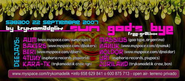 Party Flyer Sun God's Bye 22 Sep '07, 23:30