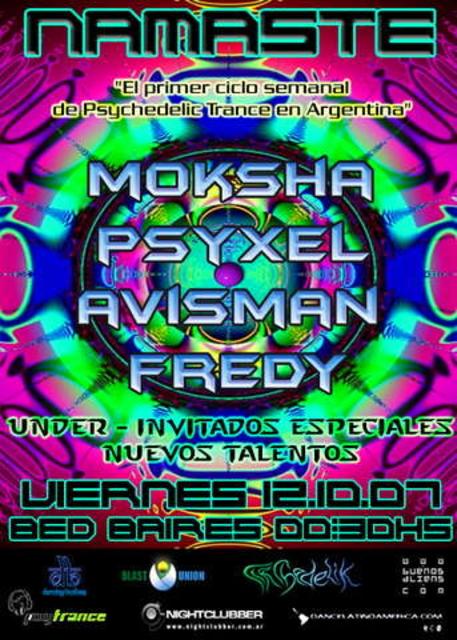 Party Flyer Namaste 13 Oct '07, 01:00