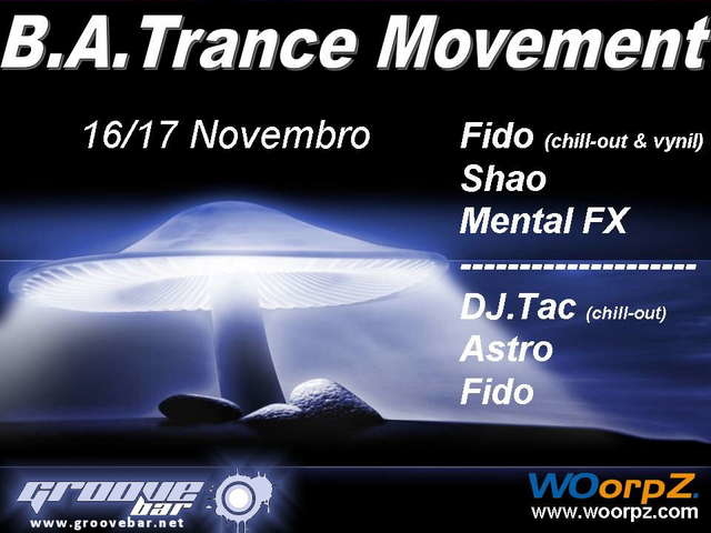 Party Flyer B.A. Trance Movement @ Groove Bar 16 Oct '07, 23:00