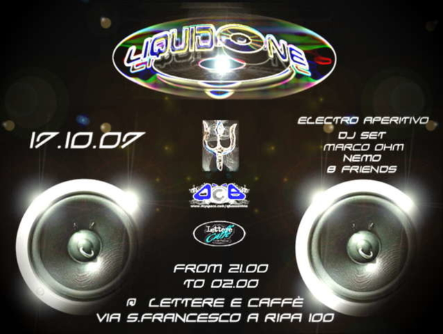 Party Flyer Electro Aperitivo - LIQUIDONE 17 Oct '07, 21:00