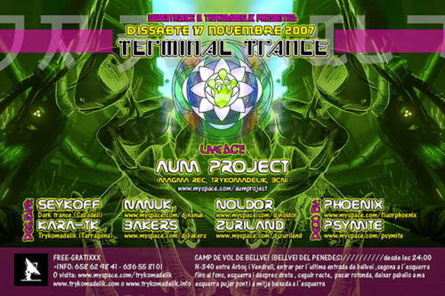 Party Flyer Terminal Trance by Trykomadelik 17 Nov '07, 23:30