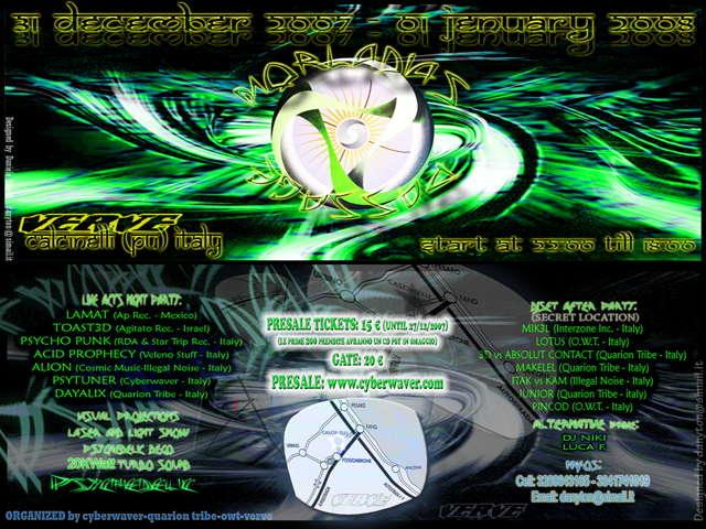Party Flyer MOKLADIAS PASSAGE + after party (22 ore) 31 Dec '07, 22:00