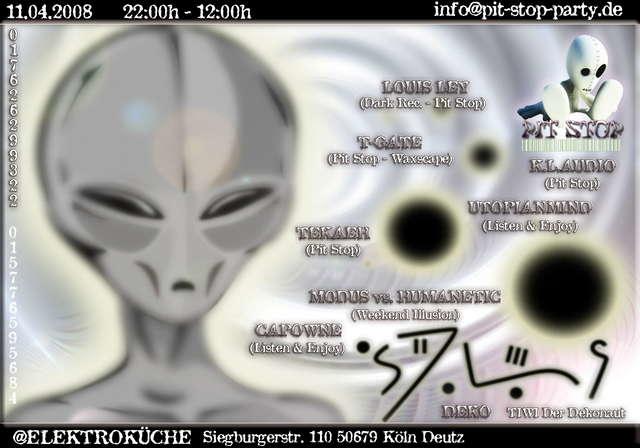 Party Flyer *** PIT STOP.... DISCONNECTED V @ELEKTROKÜCHE *** 11 Apr '08, 22:00