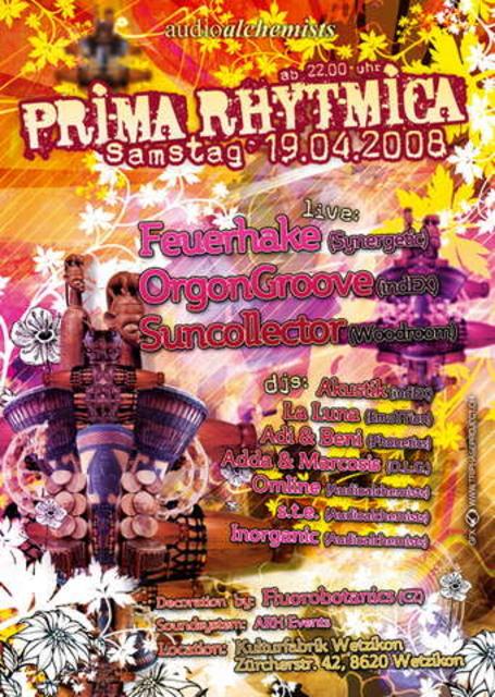 Party Flyer Prima Rhythmica 19 Apr '08, 22:00
