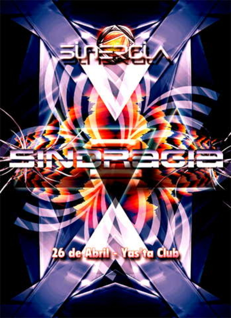 Party Flyer SINERGIA presenta: SINDRAGIA2 26 Apr '08, 23:30