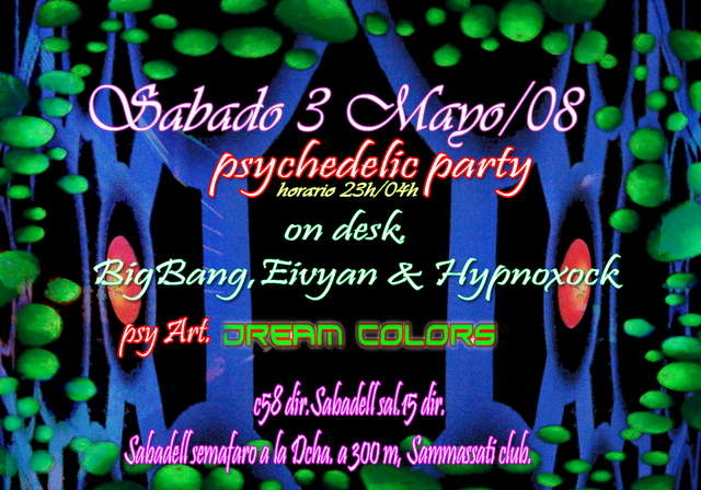 Party Flyer Psychedelic Trance Club 3 May '08, 23:00