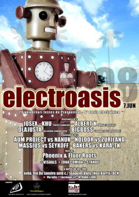 Party Flyer Electroasis'08 7 Jun '08, 20:00