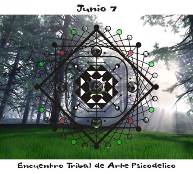 Party Flyer Psychedelic Tribal Art Meeting in Córdoba Mountains 7 Jun '08, 17:00