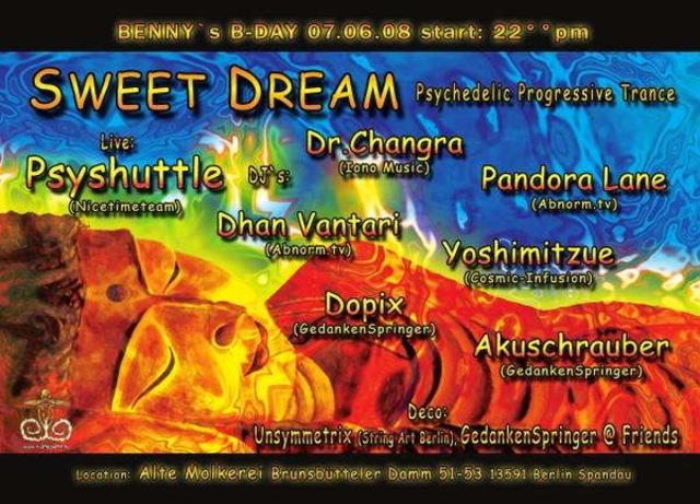 Party Flyer Sweet Dream 7 Jun '08, 22:00